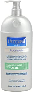 Aloe Vera Face Moisturizing Lotion | Dry Skin Body Lotion & Face Protection for Soothing & Softens | Dermasil Labs Dermatologists Recommended Treatment Pump Cap Bottle | Pack of 1