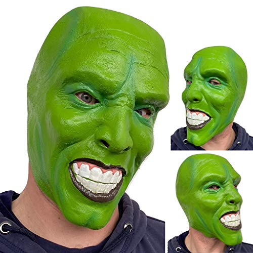 Rubber Johnnies 'Die Maske' Grüne Maske Aus Latex Jim Carrey Film Kostüm Loki Halloween Party