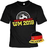 WM-Shirt-Set/Fußball-Set/Fan-Set Deutschland-Shirt+Hut: 1954 1974 1990 2014 Deutschland WM 2018 - geniales Fan-Outfit