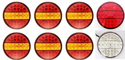 24/7 Auto 8 x 24 V Hamburger universel LED Lampes de feux arrière brouillard et feux de recul Camion Remorque caravane tracteur Châssis van
