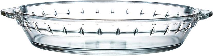 ZYER Pie Plate Easy Grab Glass Pie Pan with Handles Pie Baking Dish for Apple Pie Pumpkin Pie and Quiche,7-1/2 Inch