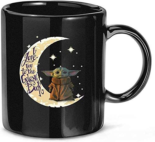N\A Baby #Yoda i Love You to The Moon and Back Movie Film TV Ceramic Gift Tazas Divertidas Tazas