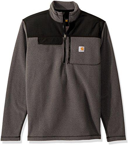 Carhartt Men's Fallon Half Zip Sweater Fleece, Charcoal, Medium