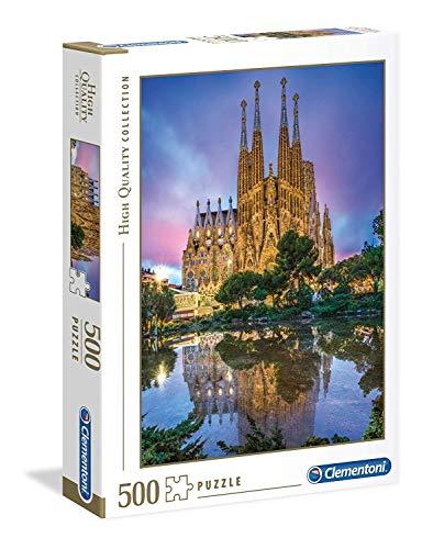Clementoni Collection Puzzle-Barcelona-500 Pezzi, Multicolore, 35062