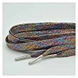 LCBH 1 Pair of Flat Shoelaces Silver Metal Headband Camping Shoelaces (Color : Multi)
