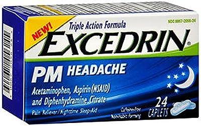 Excedrin PM Headache Caplets-24 ct