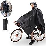 TBoonor Handschlaufen Fahrrad Poncho Premium Regenponcho mit Verstellbarer Kapuze reißfestes und...