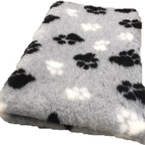 Hundedecke Doppelpack 2X Vet Bed Grau Schwarz Weiss 150x100 mit Antirutsch XXL
