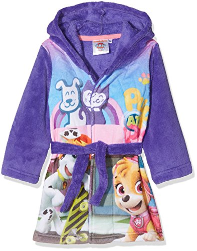 Nickelodeon Mädchen Paw Patrol Pups at Play Bademantel, Violett (Purple 18-3839TC), 2-3 Jahre