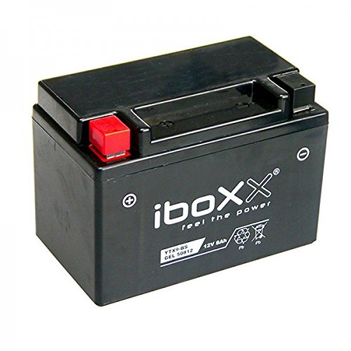 Iboxx Motorrad Gel Batterie / Gelbatterie YTX9-BS, 12 Volt, 8 Ah für Vespa ET4 125 LEADER, M19000, Bj. 2000-2003