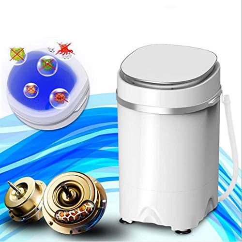 WLL-DP Lavadora portátil para Ropa de bebé Lavandería compacta, Capacidad de 10 LB, Lavadora pequeña compacta con cubeta para Lavadora con Control de Temporizador,Blanco