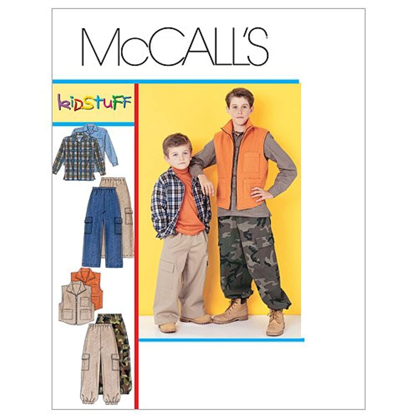 McCall's Patterns M6222 Children's/Boys' Shirt, Vest and Pull-On Pants, Size Z (MED-LRG-XLG)