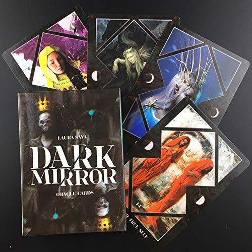 GUOHAPPY Dark Mirror Oracle-Karten: 45 Blatt Tarotkarten Entworfen für Schattenarbeit (Englische Version)