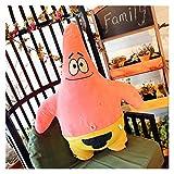 Ysguangs Juguete de Peluche Juguete de Dibujos Animados Suave de Juguete de Peluche y Esponja Creativa para niños Regalo de cumpleaños de muñecas para niños (Color : Patrick Star, Height : 20cm)