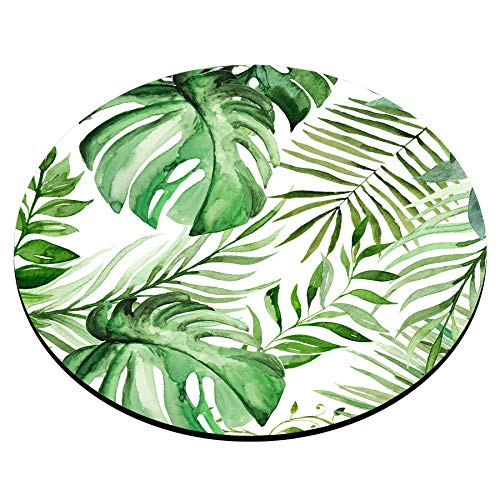 Smooffly Wild Leaf Mouse pad, Round Mousepad, Leaves Mouse pad, Office Supplies, Gift for Friend, Desk Accessories Photo #4