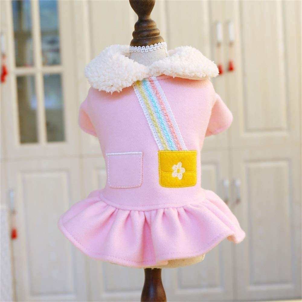 DLYDSSZZ Pet Inexpensive Autumn and Winter Clothes Wear Pink Lamb Max 46% OFF Two-Legged