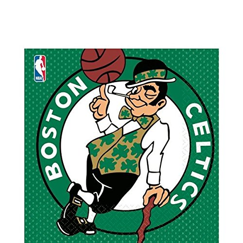 Amscan 513654 Boston Celtics NBA Collection Luncheon Napkins, 16 pcs