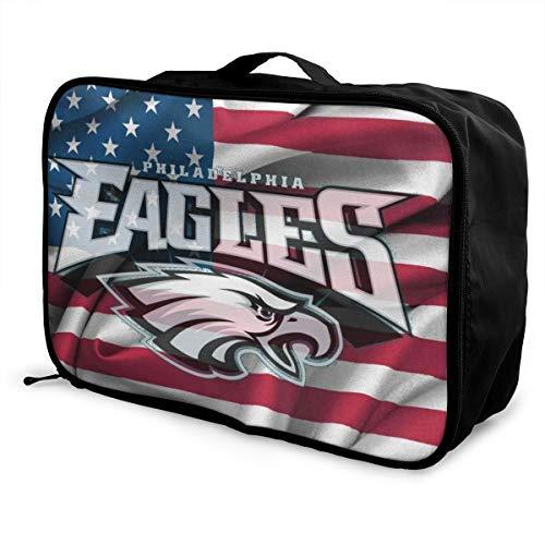 Kanteband Philadelphia Eagles Travel Light and Waterproof Foldable Storage Carry Luggage Luggage Tote Bag