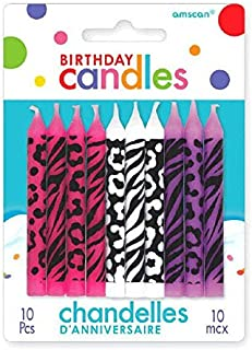 Animal Print Birthday Candles | Party Supply