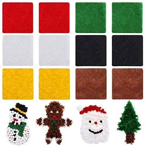 4800 Pieces Mini Christmas Tissue Paper Christmas Paper Squares Tissue Paper Craft, 6 Colors for Kids Holiday DIY Christmas Scrapbooking Crafts Supplies