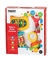 Halilit Baby's Music Carnival Gift Set. Musical Instruments for Babies Includes Cage Bell, Baby Mara...