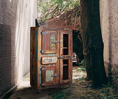INDODECOR Armario de Cocina y Comedor Rustico,en Madera reciclada.Medidas 140cm X 90cm X 38cm