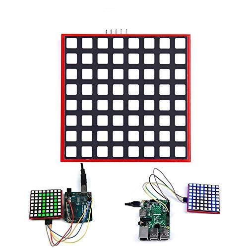 weichuang Elektronisches Zubehör LED Vollfarbiges 8x8 RGB Dot Matrix Bildschirm Modul für RPi 3/2/B+ Elektronikzubehör Elektronikzubehör