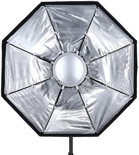 Rollei 28121 - Lampada professionale Beauty Dish, 60 cm, con connettore Bowens, 8 angoli
