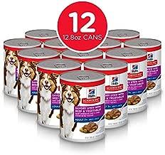 Hill's Science Diet Senior Wet Dog Food, Adult 7+ Savory StewCanned Dog Food, 12.8 oz, 12 Pack