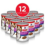 Hill's Science Diet Senior Wet Dog Food, Adult 7+ Savory StewCanned Dog Food, 12.8 oz, 12 Pack