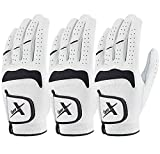 GearX Men's Golf Gloves Touchable Smartphone All Soft Cabretta Leather Pack of 3 Medium-Large(24) Size