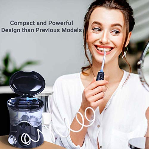 DYDRApik Electric Water Flosser for Teeth - Multi-Function Waterjet Flosser for Overall Dental Health, with Adjustable Dental Tips & 10 Different Pressure Settings, FDA Approved, 600 ml Tank Capacity