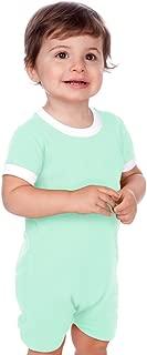 Kavio! Unisex Infants Scoop Neck Short Sleeve Romper