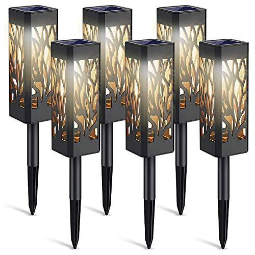Luces de jardín LED de energía solar de 6 piezas, luces de