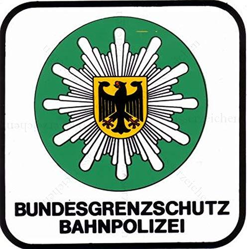 20cm! 2Stück!Aufkleber-Folie Wetterfest Made IN Germany Bundesgrenzschutz Bahn-Polizei S652 UV&Waschanlagenfest-Auto-Vinyl-Sticker Decal Profi Qualität bunt farbig DigitalSchnitt