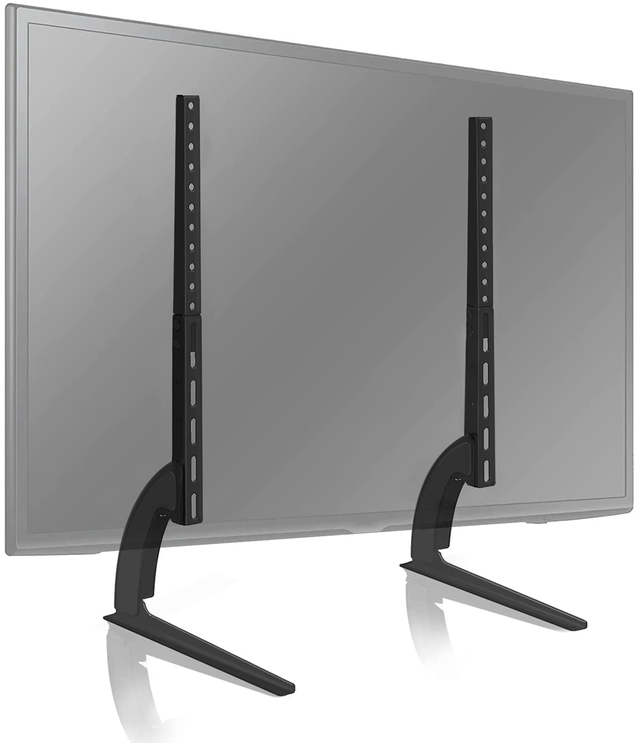TAVR Universal Table Top TV Stand for Most 27 30 32 37 40 43 47 50 55 60 65 inch Plasma LCD LED Flat or Curved Screen TVs with Height Adjustment, VESA Patterns up to 800mm x 500mm,88 Lbs