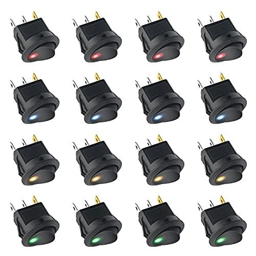 interruptor mini,Interruptor Basculante, mini Interruptor Basculante Cuadrado, Interruptor de Iluminación, Interruptor de Alimentación de Juguete 12V 20A