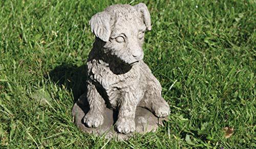 Jack Russell Hund Statue | Reconstituted Stone Kalkstein Beton Garten Ornament