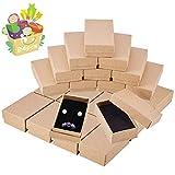 Caja de Regalo de 24 Piezas Kraft - Cajas de Regalo de Cartón Pequeñas para Joyería, Caja de Regalo Marrón con Tapa Caja Regalo de Joyería, Mini Caja de Kraft para Collar/Pendiente/Anillo(8x5x3cm)