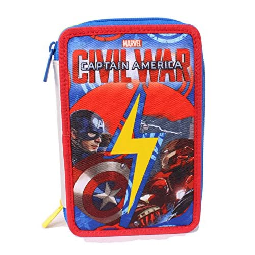 Astuccio Captain America Civil War - Poliestere, Multicolore