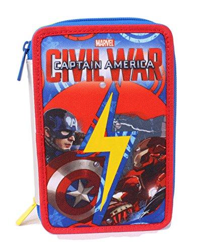 Seven Captain America Civil War 3B8011603-591 Astuccio, Poliestere, Multicolore