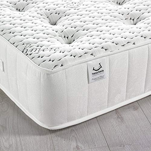Happy Beds Cashmere 3000 Pocket Sprung Memory and Reflex Foam Mattress Cashmere Fabric 5' King Size 150 x 200 cm