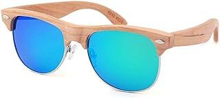 Sebasty - Sebasty UV400 Gafas De Sol Azules Película De Color Polarizador for Hombre Europa Y América Gafas for Mujer