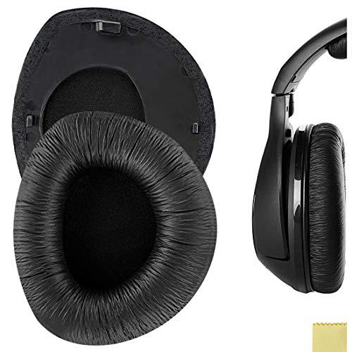 Geekria Almohadillas de repuesto para auriculares RS160, HDR160, RS170, HDR170, HDR170, almohadillas para orejas, cubiertas para los oídos (anillo de polipiel y plástico)