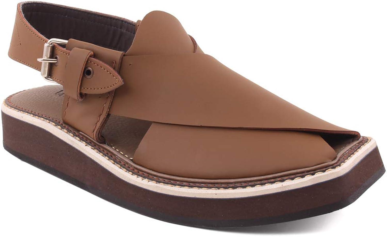 Unze Mens Bruce Peshawari Kaptaan Leather Sandals UK Size 6-11