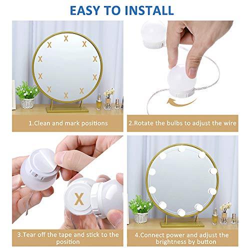 Akynite Lámparas para el espejo del cuarto de baño