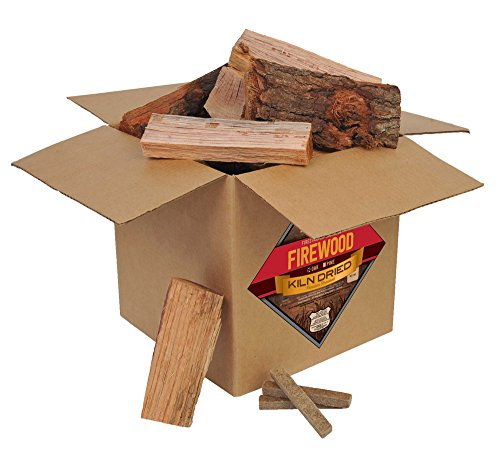 Smoak Firewood - Kiln Dried Premium Oak Firewood (Includes Firestarter) (Small Mini Logs (8 inch Pieces) 25-30lbs)