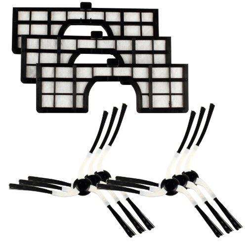 Menalux MRK02 - Kit de cepillos y filtros aspirador robot Sa