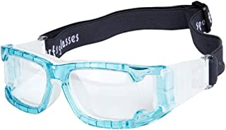 ROLLBERTO Sports Goggles Glasses for Basketball Football Volleyball Antifog Anti Shock Collision Wearable Glasses (Blue)