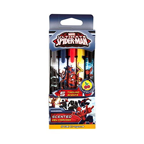 n/a 70.SPMN6005 Marvel Spider-Man Scented Gel Crayons (5-Pack of Scented Gel Core Crayons)